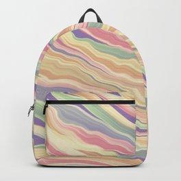 Retro Marbled Print  Backpack