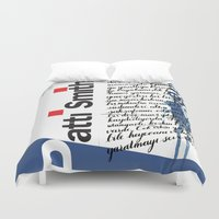 calligraphy Duvet Covers featuring Calligraphy 2 by omerfarukciftci