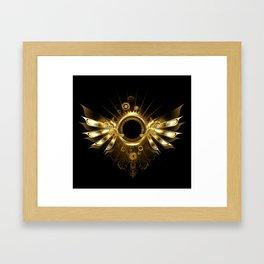 Mechanical Wings ( Steampunk Wings ) Framed Art Print