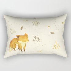 Lonely Winter Fox Rectangular Pillow