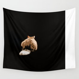 Sulky Cat Wall Tapestry