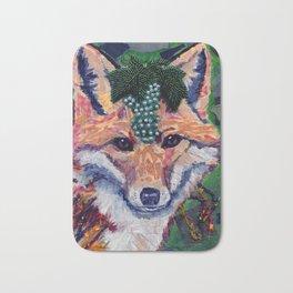 Fox Wearing Jewels Collage Bath Mat
