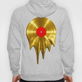 Melting vinyl GOLD / 3D render of gold vinyl record melting Hoody