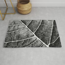 LEAF STRUCTURE no2b BLACK AND WHITE Rug