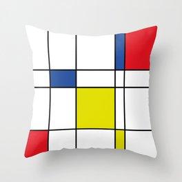 Mondrian 1 Throw Pillow