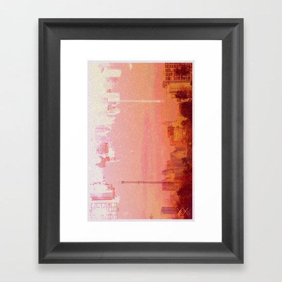 CHAMPAGNE DRUNK SKYLINES Framed Art Print