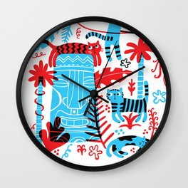 Tropicats Wall Clock