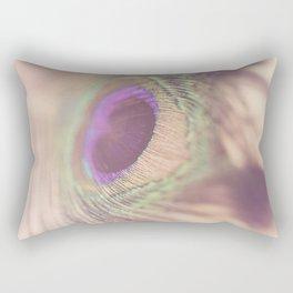 Peacock Feather Macro Photograph Rectangular Pillow