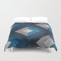 greece Duvet Covers featuring Greece Hues Diamond by Diego Tirigall