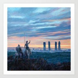Don Quixote and Giants Art Print