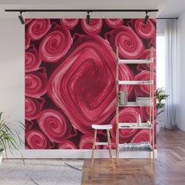 Pink Shimmer Lipsticks Wall Mural