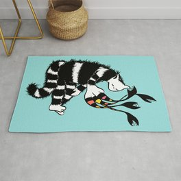 Weird Cat Character With Strange Paw Rug