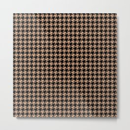 Houndstooth Skin and Fishnets Pattern Metal Print