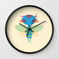 fairy Wall Clocks featuring Fairy by Volkan Dalyan