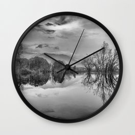 """Mammoth Paradise"" Bw Wall Clock"