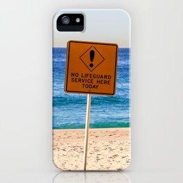 No Life Guard iPhone Case