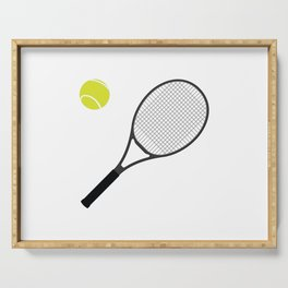 Tennis Racket And Ball 1 Serving Tray