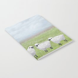sheep and queen anne's lace Notebook