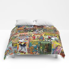 Comic Book Cover Collage Comforters