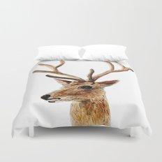 deer watercolor painting Duvet Cover