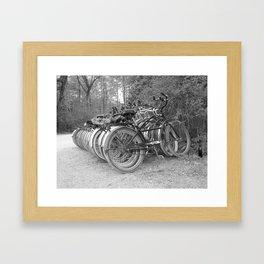 Bikes in the Biergarten Framed Art Print