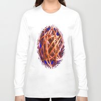the wire Long Sleeve T-shirts featuring Wire Ball by Brian Raggatt