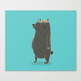 L'ours couronné Canvas Print