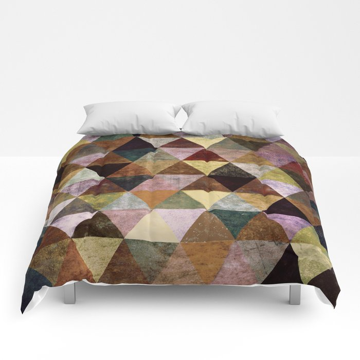 Abstract #399 Peat Bog Grunge Comforters