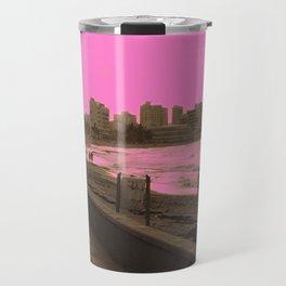 Sunset in San Juan pink Travel Mug