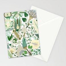 Green Flower Fantasy  Stationery Cards
