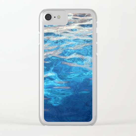 blue water Clear iPhone Case