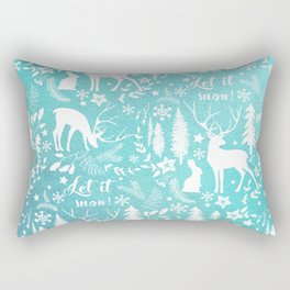 Let it snow! Christmas illustration Rectangular Pillow