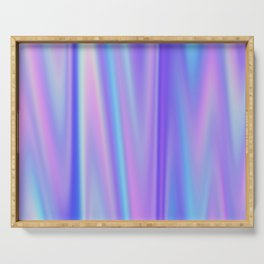 Iridescent Holographic Abstract Colorful Pattern Serving Tray