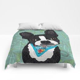 Tropical Boston Terrier Boy Comforters