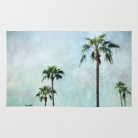 palm trees Area & Throw Rugs featuring Palm trees by Sylvia Cook Photography