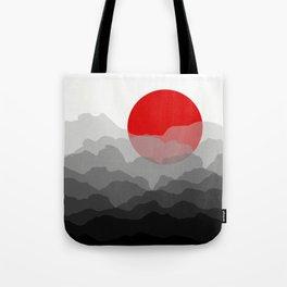 Red Sun Tote Bag