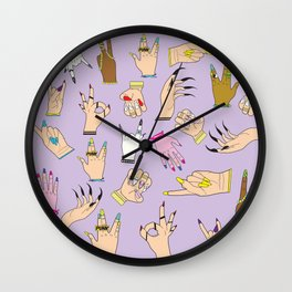 Nail Art Illuminati Wall Clock