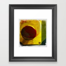 the red button Framed Art Print