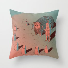The Bison #2 Throw Pillow