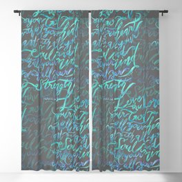 Love the Lord - Mark 12:30 Blackout Curtain