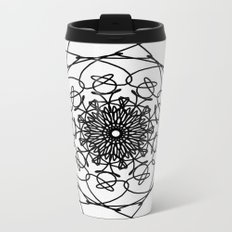 love mandala number 4 - big flower Metal Travel Mug