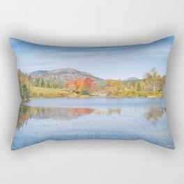 Fall on Long Pond Acadia National Park Maine Rectangular Pillow