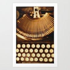 typewriter. Ink Slinger No.2   Art Print
