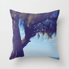 Fisherman in the distance, Mauritius Throw Pillow
