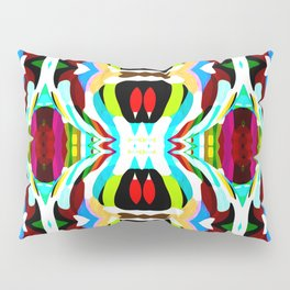 Red Focus - Painting Within The Lines Collection Pillow Sham