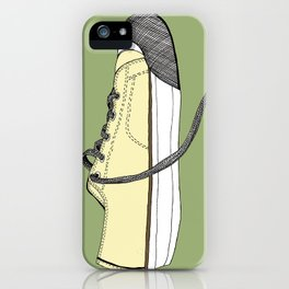 Sneaker in profile iPhone Case