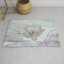 Waterlily Abstract Rug