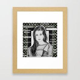 (Fifth Harmony - Lauren Jauregui) - yks by ofs珊 Framed Art Print