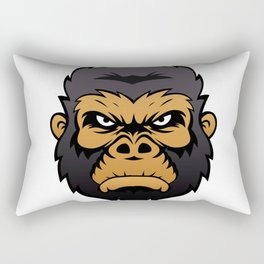Gorilla Head Cartoon. Rectangular Pillow
