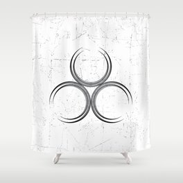 Geometric circles with a touch of sacred geometry Shower Curtain